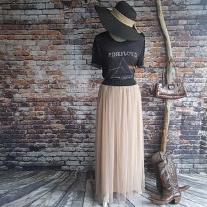 Dresses & Skirts - Tulle Maxi Skirt in Buff Color